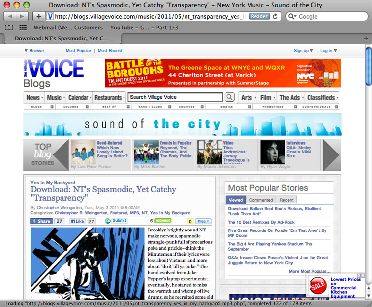 2011/05/02 Villagevoice.com NT Interview