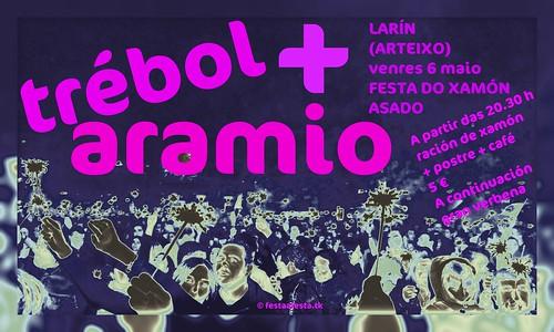 Arteixo 2011 - Festa do xamón asado en Larín - cartel