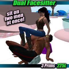 Dual Facesitter Poster (bootgoddessgina) Tags: life future second femdom matriarchy facesitting
