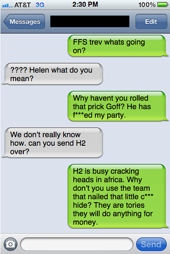 Txts from New York: Trev and Helen have chat