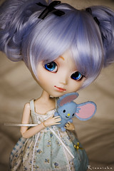 Two Little Blue Mice (Rinoninha) Tags: blue cute azul doll sweet chips 25 wig kawaii pullip dulce ichigo mueca coolcat peluca mymelody obitsu rewigged rechipped