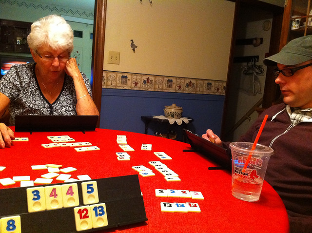 playing rummikub with gram