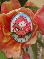 Tarina Tarantino Hello Kitty Russian Ring (Suki Melody) Tags: hello pink blue cute up fashion cat dress cosplay head hellokitty large kitty jewelry ring sanrio collection lolita harajuku kawaii cameo nouveau russian oval tarina tarantino tarinatarantino
