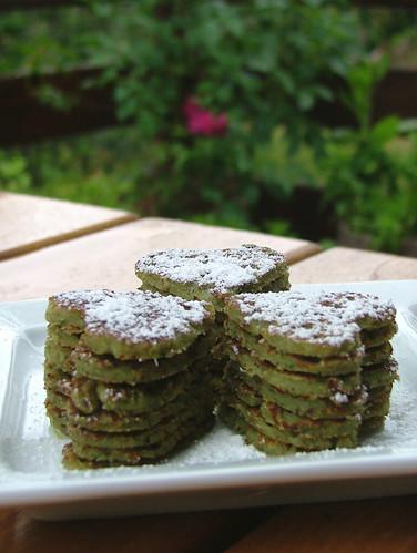 buckwheat pancakes with erba danielle (artemisia pontica?)