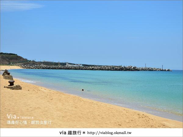 【澎湖沙灘】山水沙灘,遇到菊島的夢幻海灘!14