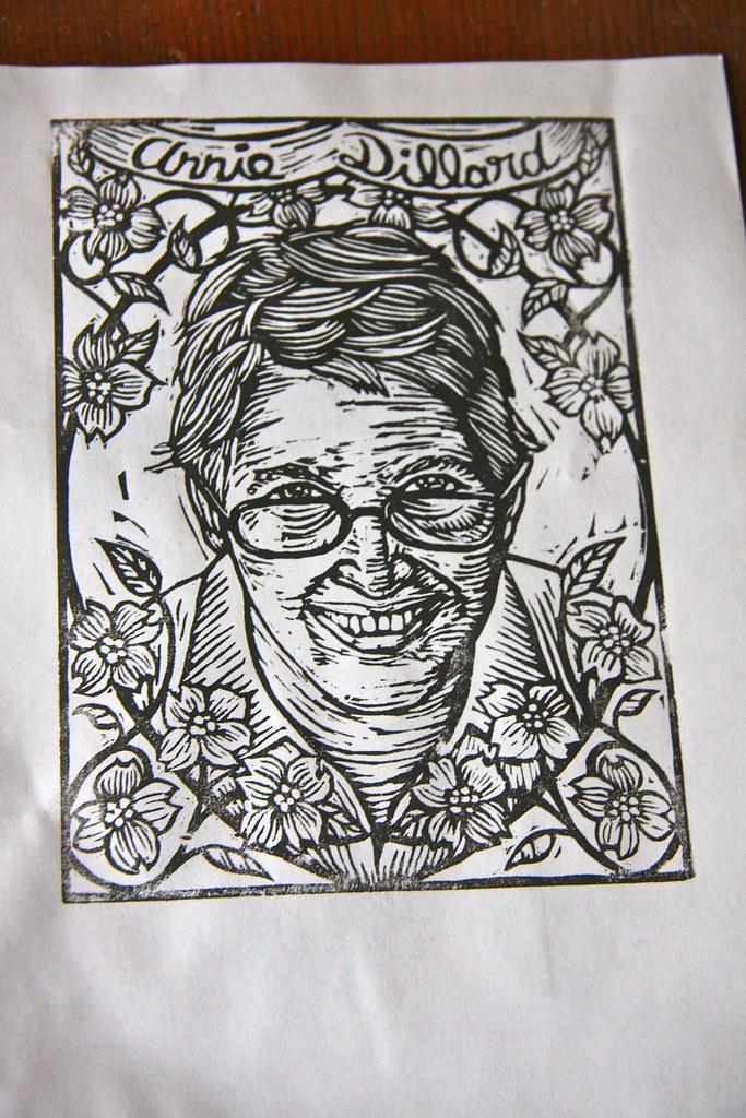 Annie DIllard rough print