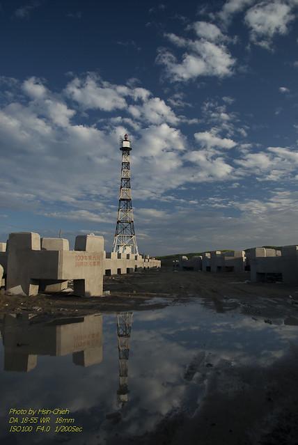 台灣本島極西點:七股國聖燈塔