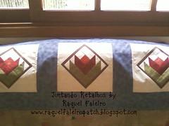 trilho tulipas foundation (Juntando Retalhos by Raquel Faleiro) Tags: foundation tulipas patchwork trilho