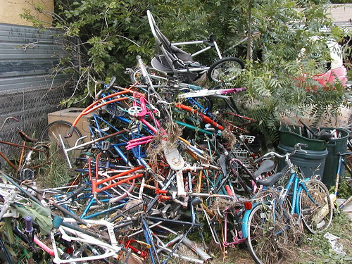 Piles within piles of bikes