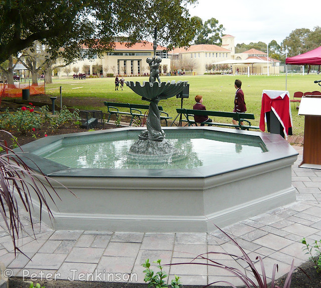Restored Andrew Handyside Fountain at Prince Alfred College, Adelaide, Australia