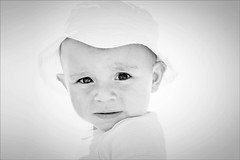 Roman (Nada*) Tags: boy portrait blackandwhite bw baby cute face mouth children nose kid eyes child sweet roman small young son kind bebe 11months petit sohn deti