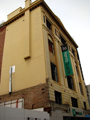 Harris Scarfe Building, Rundle Mall (baytram366) Tags: street windows music david detail building heritage cars glass buses retail facade mall smash closed doors open susan dusk south events bricks australia icon demolition structure bookstore trading telstra signage adelaide harris carpark sanity borders scarfe grenfell rundle rodger frontage destory
