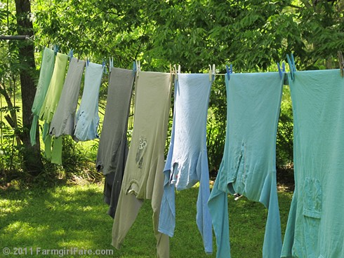 color coordinated laundry line - Farmgirl Fare