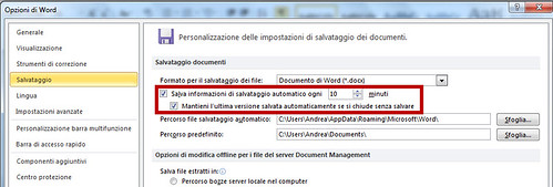 Recuperare documenti di Office 2010 non salvati