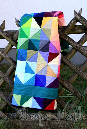 'Shattered rainbow' quilt finished (5)
