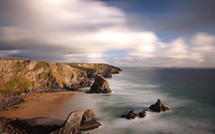 Bedruthan (@Gking_photo) Tags: longexposure sunset shadow sea england sky seascape beach water clouds landscape coast seaside sand rocks cornwall waves imac tide coastal coastline geology rugged rockformations westcountry ndfilter bedruthansteps nd110