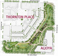 site plan for Thornton Creek restoration (by: SvR Design)