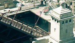 Transformers DOTM (TF3) under Michigan Avenue bridge (Pixel Rally) Tags: summer chicago film set movie illinois angle action battle location business crew setup framing wrigleybuilding michiganavenue explosions excitement directing filming behindthescenes positioning markers 2010 viewfinder eyewitness michaelbay tf3 stuntdoubles headcutouts transformers3 transformersdarkofthemoon transformersdotm