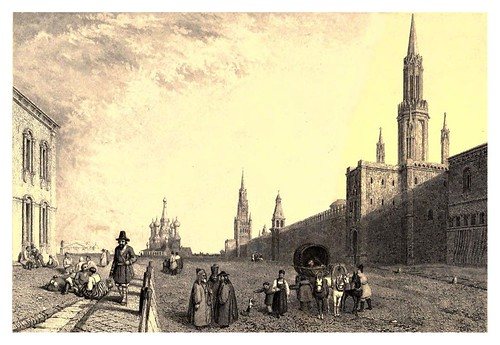 019-Avenida Krasnoi y puerta de Vladimir-Moscow-A journey to St. Petersburg and Moscow 1836- Ritchie Leitch