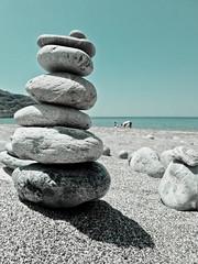 Stone pile (Talliebally http://instagram.com/talliebally) Tags: beach sand stones kreta craft fave plakias lightroom3 talithahoppe