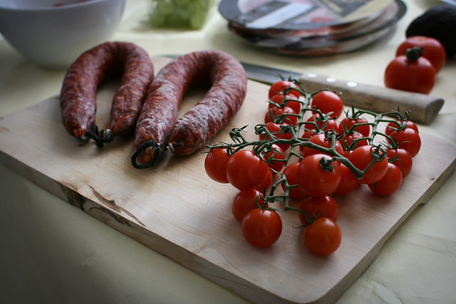 Tomato and chorizo