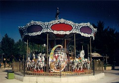 (.Rabbit.Hole.) Tags: park blue trees light red summer sky horse lebanon sun tree fun photography mine purple awesome carousel joanna 2011 iamyou