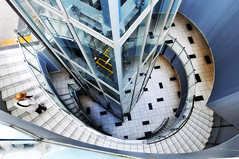 Staircase (jpnuwat) Tags: japan architecture spiral tokyo stair shijuku dsc1693 modegakuencocoontower