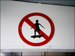 No Skating sign, well designed ^^