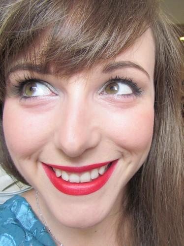 No. 7 Red lipstick