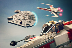 The return of heros (storm TK431) Tags: starwars lego yavin revell ftoys easykit