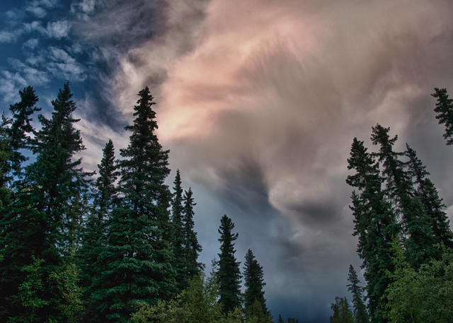 Thunderstorm down the road - HDR