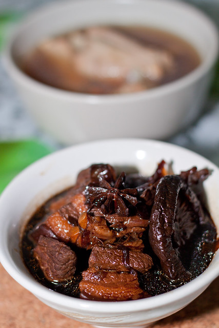 stewed pork with chinese mushroom