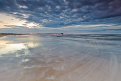 Steetley Beach (Col-B) Tags: sunset sea beach water clouds canon reflections landscape sand exposure waves shoreline dramatic shore 1022 headland hartlepool 60d canon60d ndgrads canoneos60d