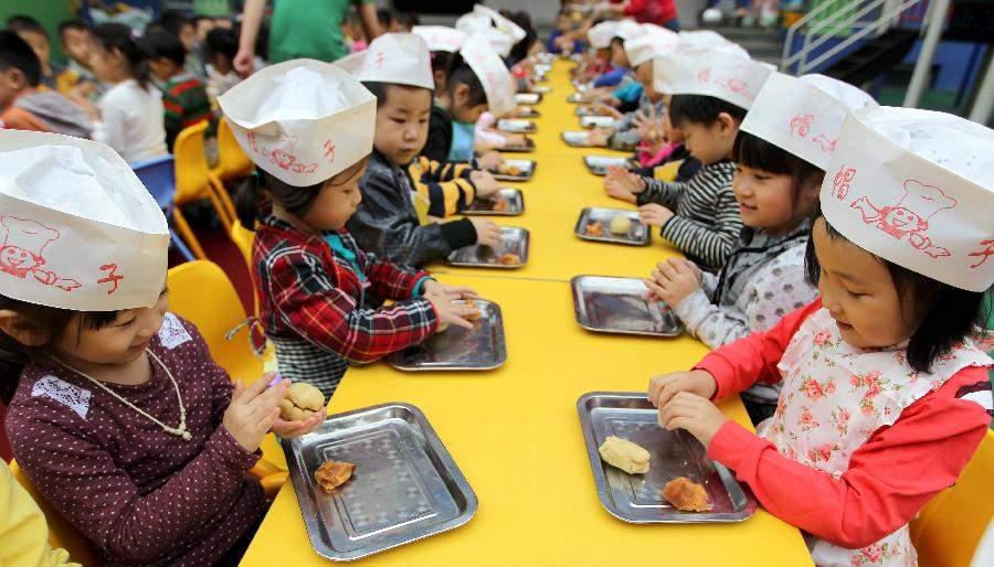 Детский сад на севере Китая