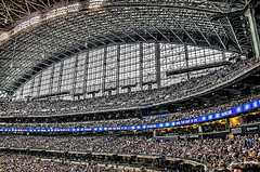 Packed House (Explored) (Wes Iversen) Tags: sports wisconsin baseball milwaukee crowds millerpark hdr chicagocubs milwaukeebrewers odc nikkor18300mm ourdailychallenge