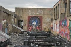 (NJphotograffer) Tags: graffiti graff pennsylvania pa philadelphia philly abandoned building urban explore rooftop hail satan