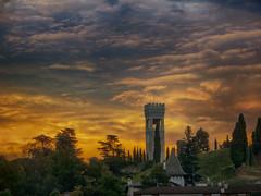 IMG_0953 (pinktigger) Tags: sunset fagagna feagne friuli italy italia tower sky clouds