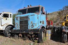 Gold King Mine & Ghost Town (USautos98) Tags: kenworth bullnose coe cabover truck tractortrailer