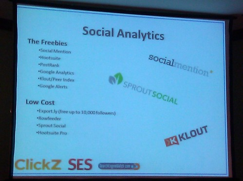 SES: Social Media on a Budget Session