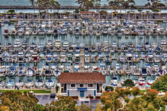 Tight Quarters (Didenze) Tags: above detail marina docks reflections boats harbor view jetty symmetry tight orangecounty danapoint hdr tuffy canon450d hdrspotting didenze