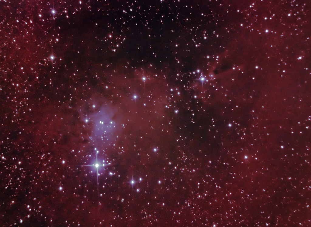 Christmas Tree Cluster and Cone Nebula 24 March 2011