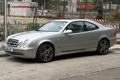 "Mercedes CLK 320  AMG  ""BELLE"", Yuen Long, Hong Kong (Daryl Chapman Photography) Tags: auto car canon hongkong mercedes automobile sigma 7d amg clk320 yuenlong licenceplates 1770mm worldcars longping"
