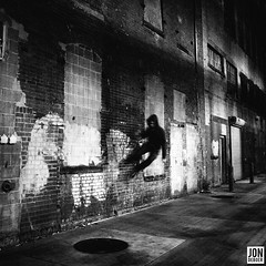 insomniac olympics (.insomniac) Tags: portrait night self alley detroit olympics insomniac parkour beats blockhead
