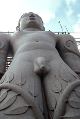 112 -Inde du sud / South India Karnataka. (Chanudaud) Tags: india statue religion karnataka inde sravanabelagola jainism sravanabelgola jaïnisme