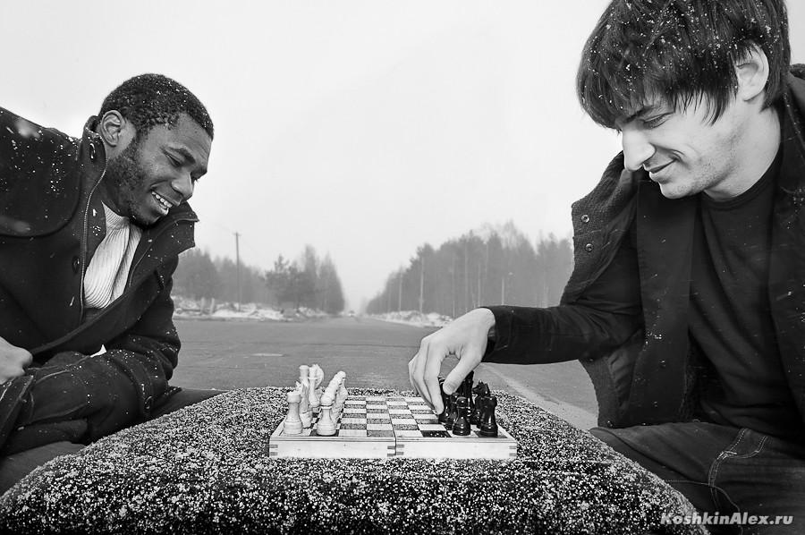 Шахматы под снегом 2511