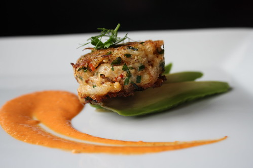 Crab Cakes With Red Pepper Yogurt Sauce Heather Christo