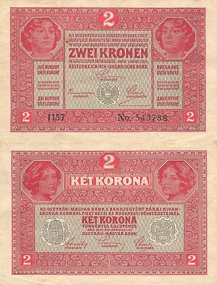 2 Koruny Rakúsko-Uhorsko 1917, P21