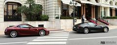 Ferrari 599 GTB Fiorano Combo (Raphaël Belly Photography) Tags: red black car french photography eos hotel riviera photographie f1 ferrari casino montecarlo monaco belly exotic 7d passion carlo monte hermitage raphael scuderia rb fairmont spotting gp gtb supercars combo raphaël 599 fiorano rubino