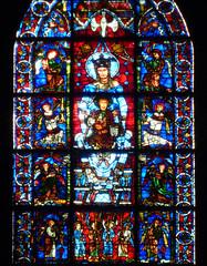 Chartres, Notre-Dame de la Belle-Verrière (detail of Virgin)