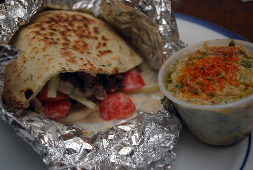 Falafel Sandwich with Tabbouleh